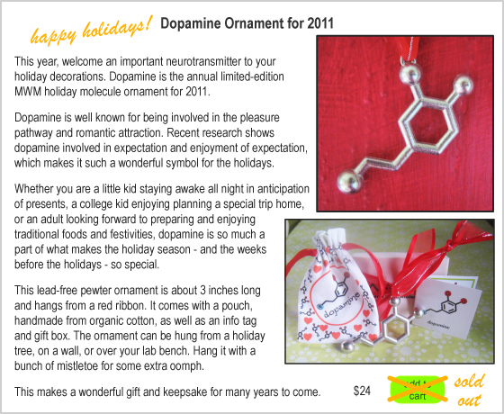 Made With Molecules: Dopamine Molecule Ornament